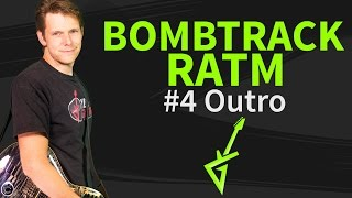 Guitar Lesson: Bombtrack 4/4 Outro - Rage Against The Machine - How to play / tutorial