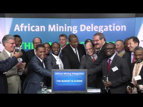 African Mining Delegation closes the Toronto Stock Exchange, March 8, 2016