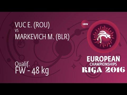 Qual. FW - 48 Kg: E. VUC (ROU) Df. M. MARKEVICH (BLR), 10-9