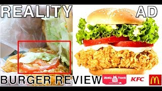 TOP3 Hamburger Franchise:Reality VS AD  |Mom's Touch VS KFC VS Mcdonalds