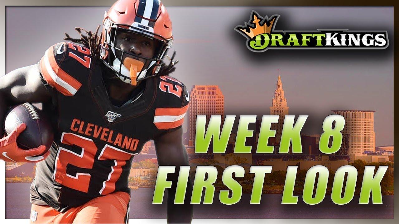 DRAFTKINGS WEEK 8 FIRST LOOK LINEUP: NFL DFS PICKS