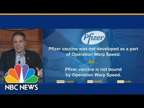 New York Gov. Cuomo Requests Covid Vaccine Directly From Pfizer To Increase Supply | NBC News NOW