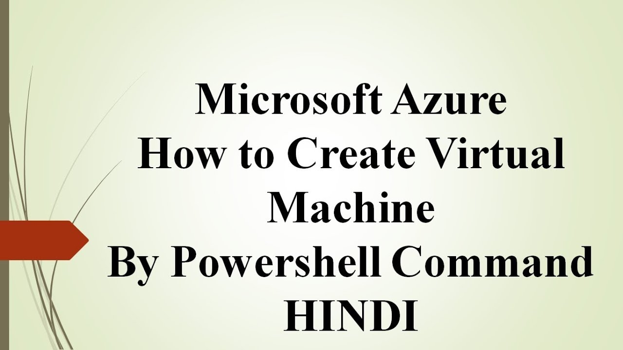 Azure How to Create Virtual Machine By Powershell Command & Troubleshooting  - HINDI