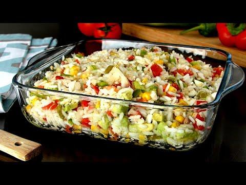 Ensalada de arroz 👈 una receta de ensalada