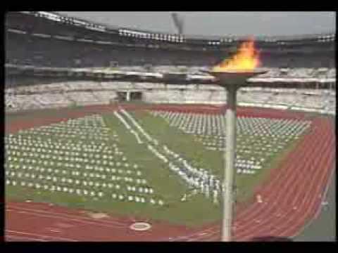 1988 Seoul Olympics Opening - Taekwondo Demo & Hoop Boy