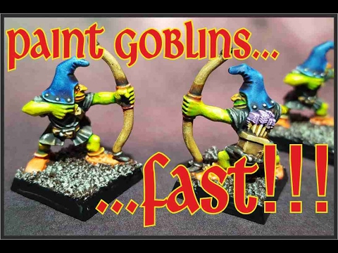 How to paint goblins FAST! Night / Cave Goblins painted with washes!