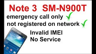 Samsung N900 Emergency Call Only