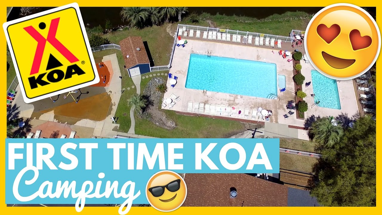 FIRST TIME KOA CAMPING! 😍 Myrtle Beach KOA, South Carolina 🤗Full Time RV  Living