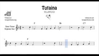 Tutaina Partitura de Saxo Tenor y Soprano Sax Villancico