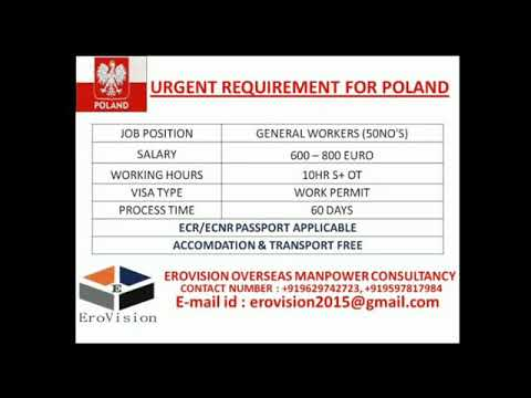 JOBS IN POLAND (EUROPE) | Urgently Required Large Vacancies