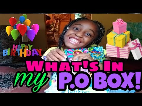 P.O BOX BIRTHDAY GIFTS FOR US || WHAT'S IN MY PO BOX