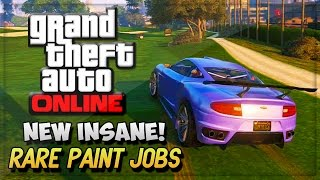 GTA 5 Rare Paint Jobs - GTA V INSANE Magnetic Blue Paint Job ! (GTA 5 Online Gameplay & Glitches)
