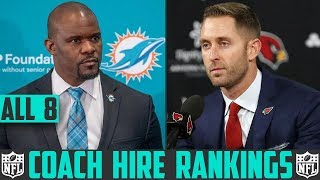 NFL Head Coach Hire Rankings - Browns Dolphins Broncos Bucs Jets Packers Cardinals Bengals