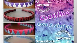 Repeat youtube video CINTILLO (Diadema) 2 CINTAS EN RASO Con:  Creatividad & Sonrisas