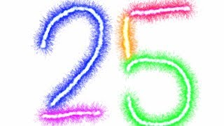 NEW Counting to 25 Counting 1 to 25 by 1's Writing Numbers for Kids 1 - 25 Preschool Kindergarten