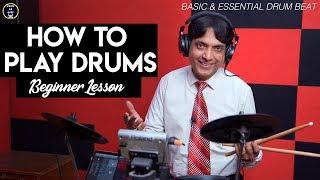 How To Play Drums - Easy Basic Beginner Lesson   Yeshu Ke Geet