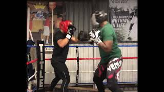 Boxing, sparring highlights Courtney Reed heavyweight fighter King's boxing gym