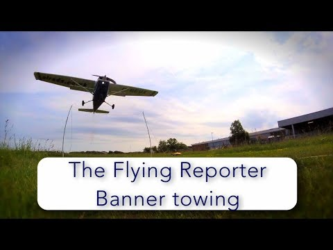How pilots tow banners - Cessna 172 - Rochester, UK
