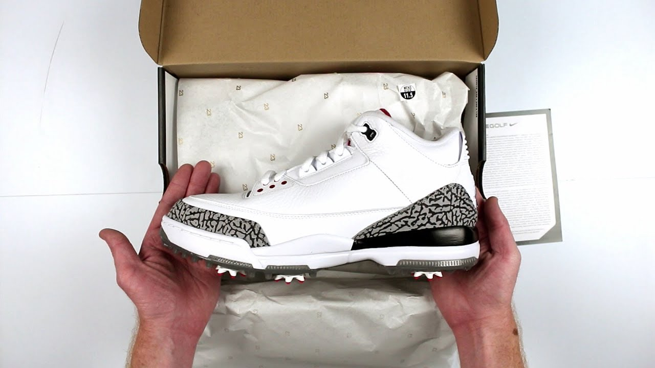 5783d2f01d02a8 Nike Air Jordan 3 Retro Golf Shoes