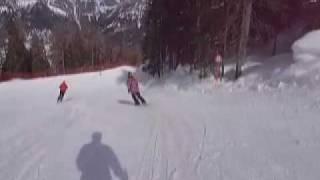 コルティナダンペッツォ4日目の滑り