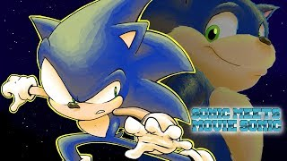 Sonic Meets Movie Sonic
