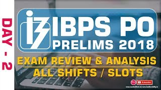 IBPS PO PRELIMS 2018 | Overall REVIEW & ANALYSIS - Day 2 - All Slots | Mr.Velu & Mr.Jackson