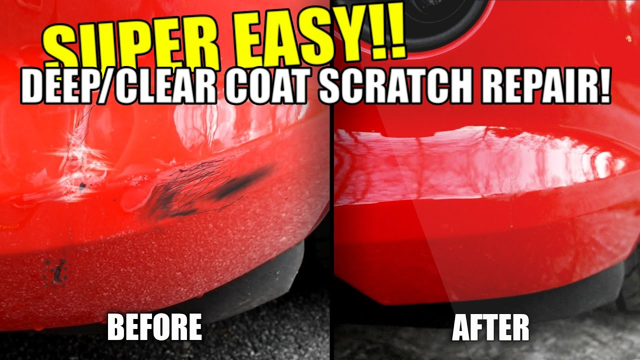 How To Repair Car Scratches In Paint Deep Clear Coat Super Easy