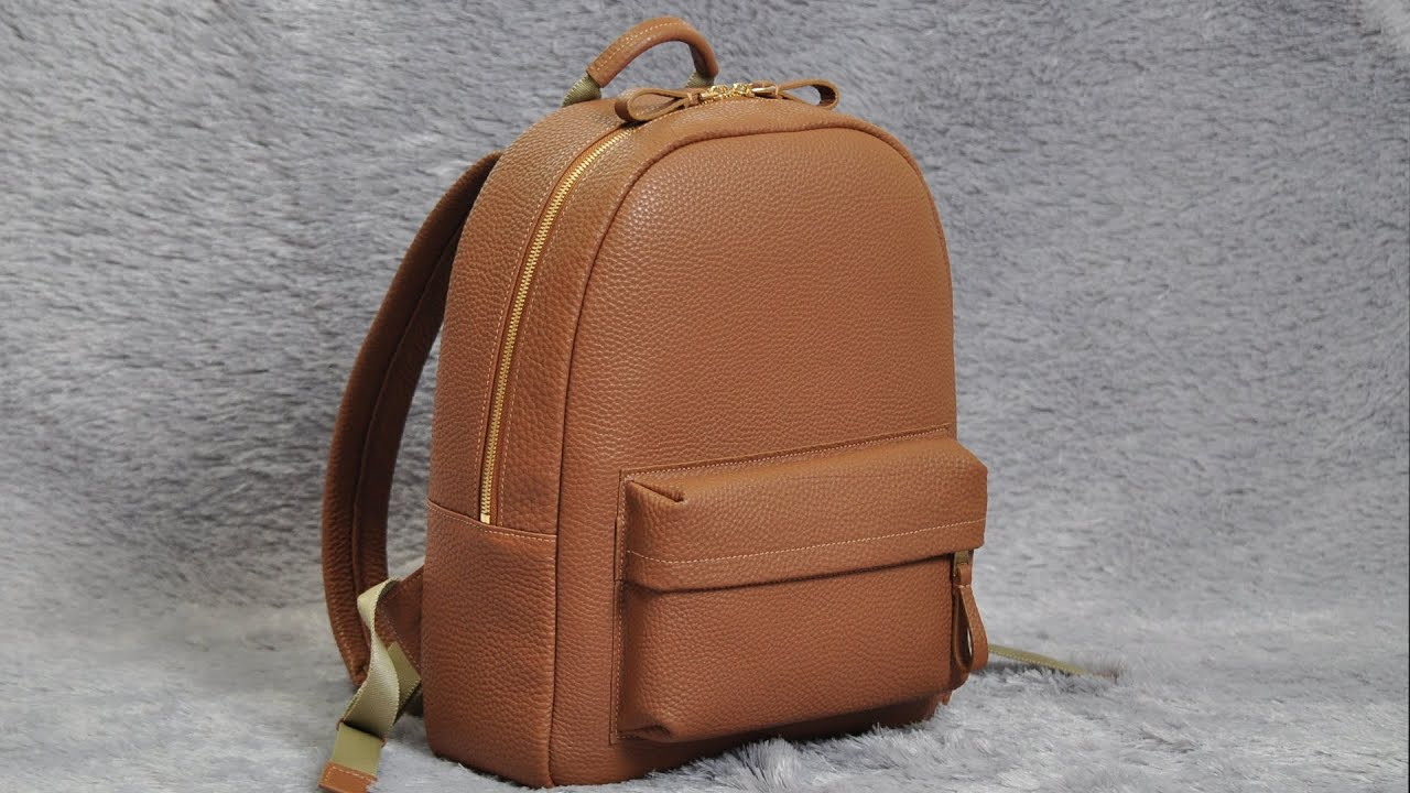 Making a Leather Backpack / With top zipper