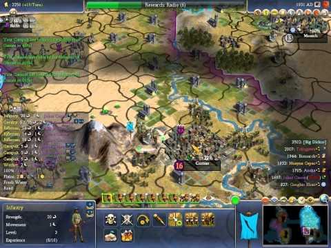 Let's Play Civilization 4 - Part 18 Machine Gun Joe