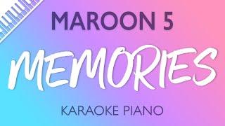 Maroon 5 - Memories (Karaoke Piano)