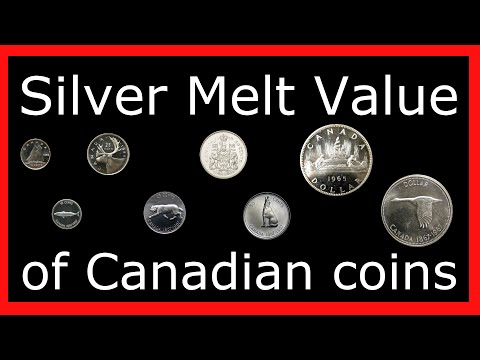 #MGTOW Money: Silver melt value of old Canadian coins.