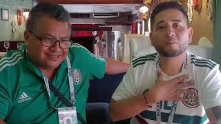 Мексиканские болельщики в Пирогах Кучкова. Июнь 2018.