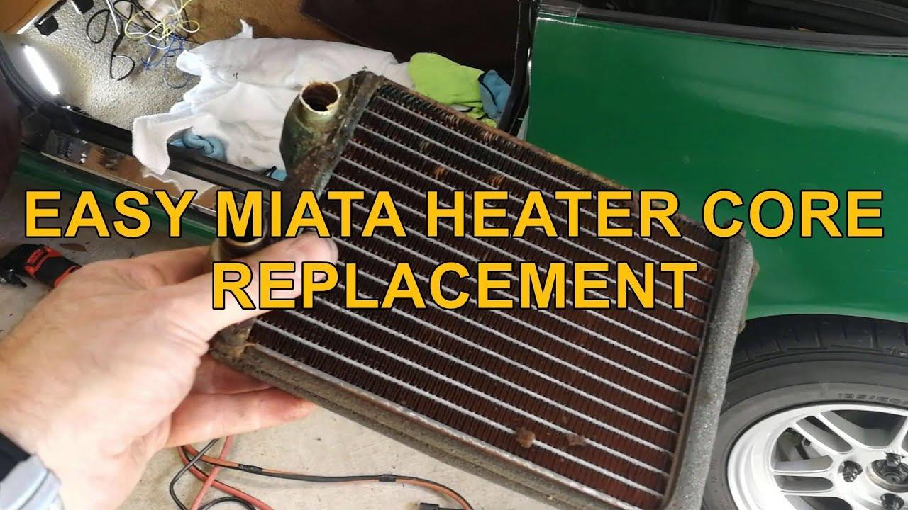medium resolution of easy miata heater core replacement