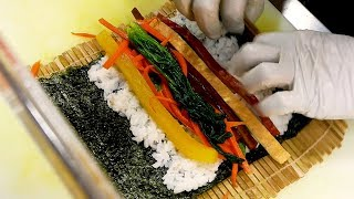 Gimbap (Rice roll) - Korean street food