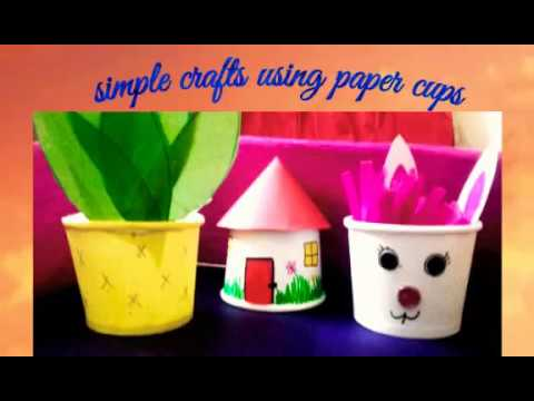 Simple Crafts using paper cups | 🌟🌟🌟🌟🌟