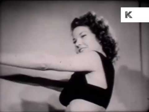 Vintage glamour girl workout 1940s