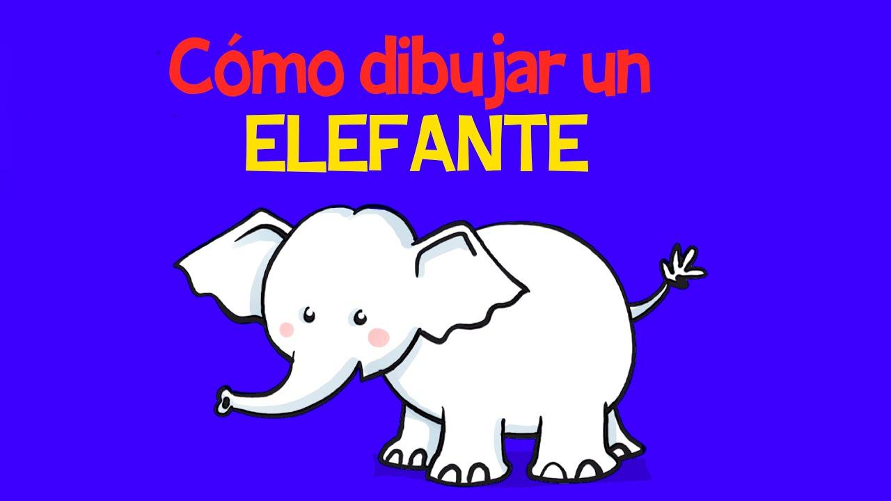 Cómo dibujar un elefante - YouTube