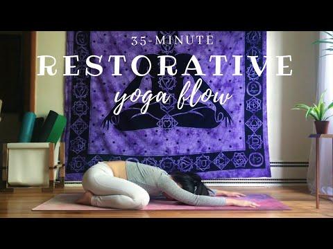 Restorative Yoga Flow No Props | 35-minute Class