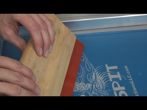 How To Screen Print: Controlling Squeegee & Ink On Screen