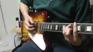 完全に耳コピです。技はともかく、音を聞いてみて下さい。このギター1...