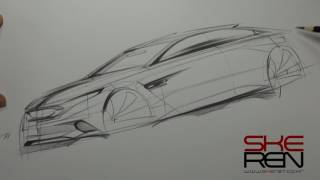 Car sketch & Design( frot quarter View )