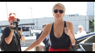 Sharon Stone Goes Braless At The Airport!