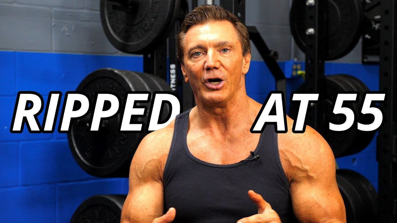 bodybuilding throughout 50 up front along with after