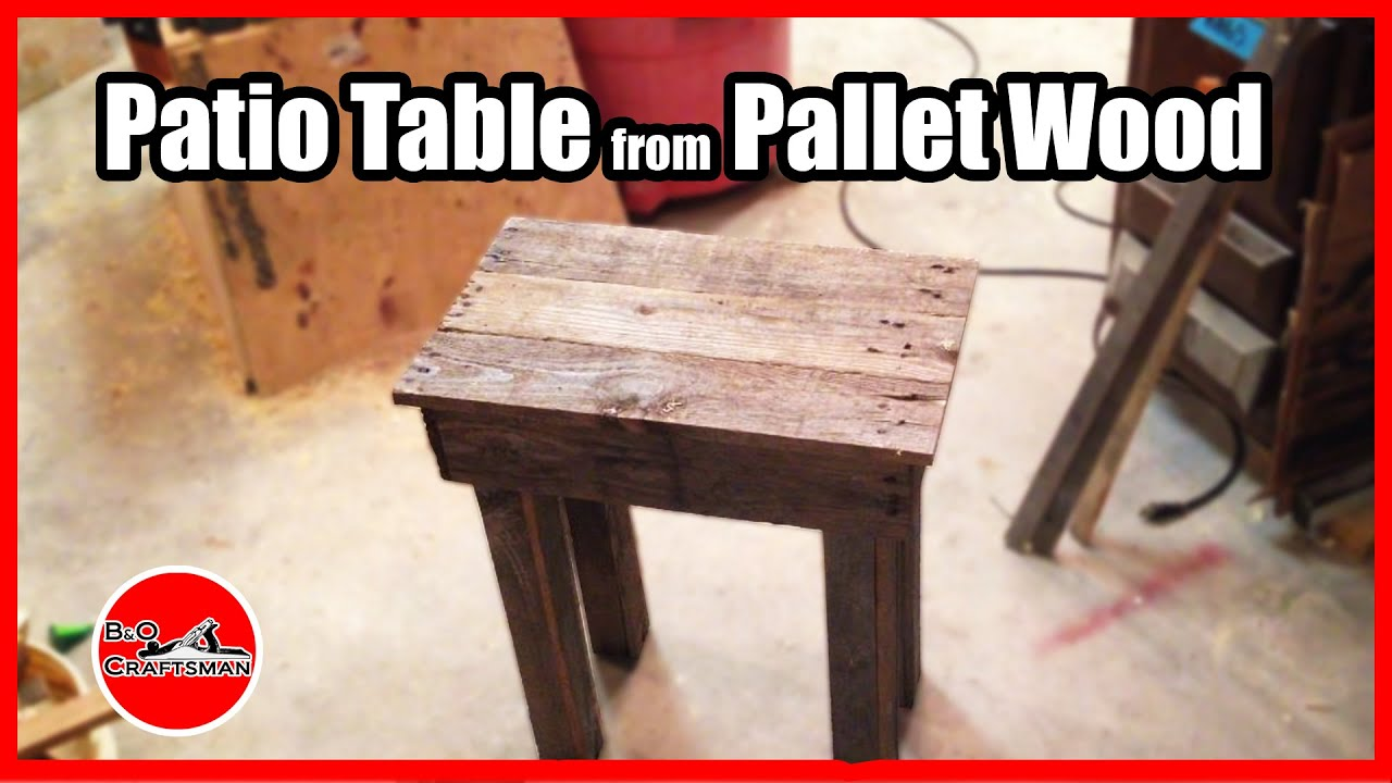 Patio Table From Pallet Wood Youtube