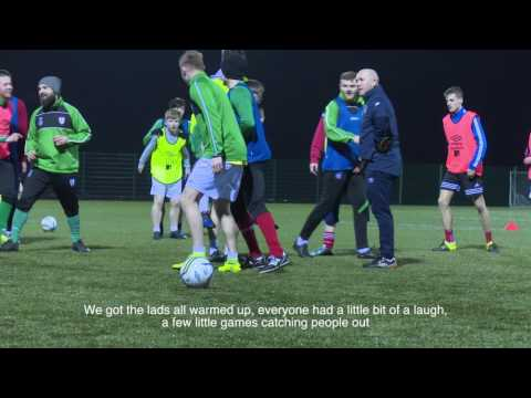 FAI Junior Cup 2016_2017 l Kevin Kilbane trains with Wayside Celtic