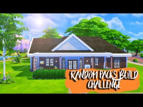 Random Packs Build Challenge ll Sims 4 Speed Build ll No CC