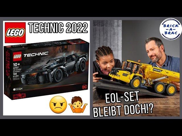 LEGO® Technic Neuheiten 2022 - was mich aufregt! // EOL-Set bleibt doch! // LEGO® News