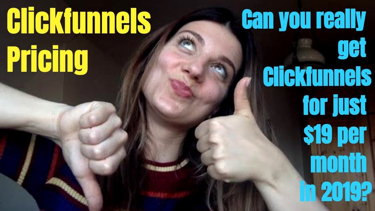 Clickfunnels Pricing 2019 & Can You Really Get Clickfunnels For Just $19 per month? Hint: yes!