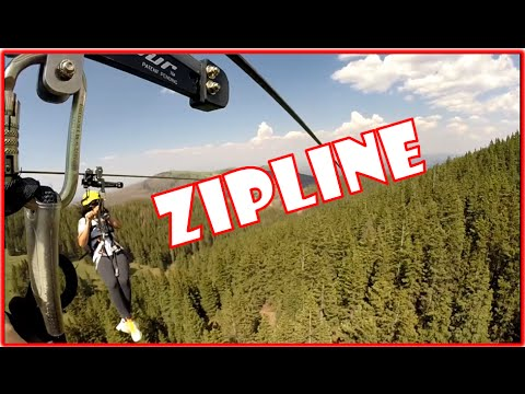 Longest ZIP LINE at Ski Apache, New Mexico