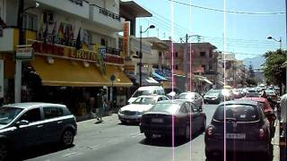 Забастовка таксистов на Крите(24 июля 2011г. Забастовка таксистов на острове Крит в Греции. Более сотни машин такси проехали по главной доро..., 2011-07-24T09:33:36.000Z)
